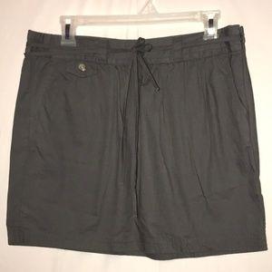Gap Gray String Belted Skirt Size 8